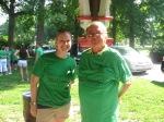 Barnes-Jewish liver transplant social worker Kathleen Walton and patient Tallis Lockos